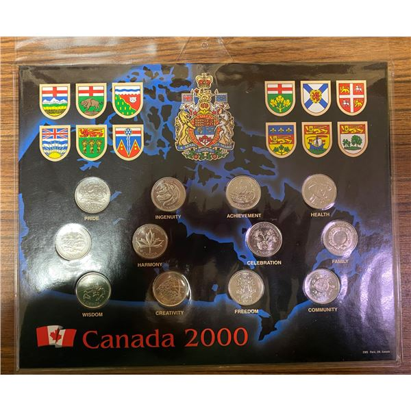 2000 12 Canadian Coin Collection