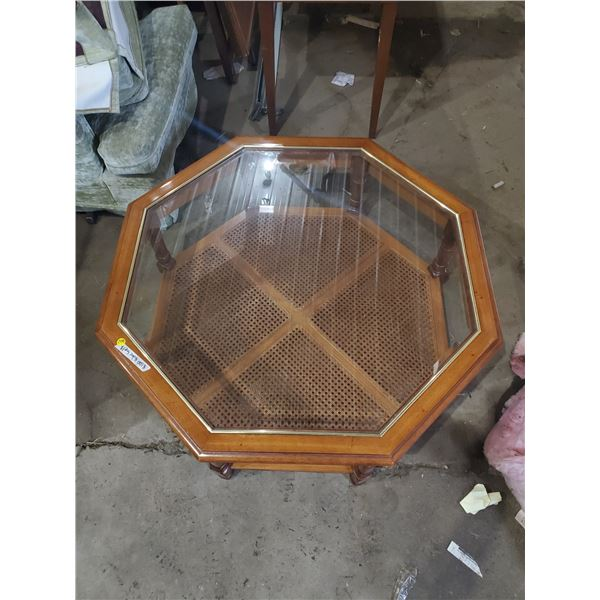 """OCTAGON SHAPED COFFEE TABLE 37 1/4""""W X 15.5""""H"""