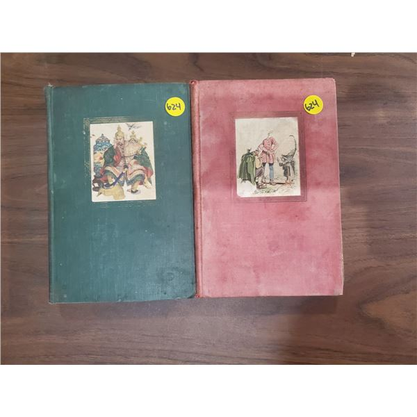2 FAIRYTALE BOOKS + WORLD MAP -GRIMMS' & ANDERSON'S (ROUGH)