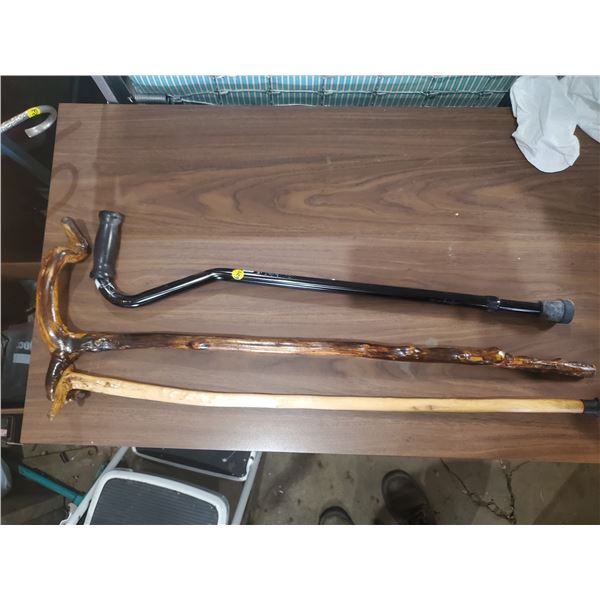 3 CANES - TWO WOODEN