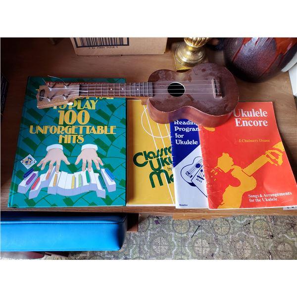 UKELELE AND 4 MUSIC BOOKS