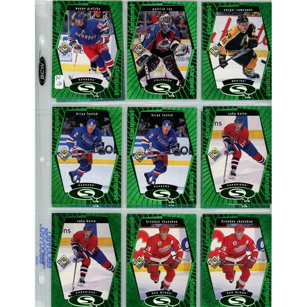 hockey card collectible lot includes Wayne Gretzky  1998-99 Upper Deck UD Choice - Starquest - Green