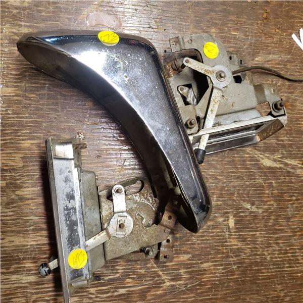 vintage car parts, radios