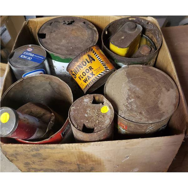 LOT medium and small Assorted cans petroliana Nanouk
