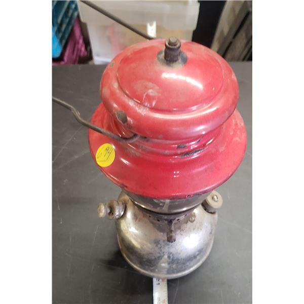 antique Coleman lamp red