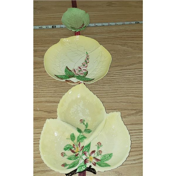3 candy dishes bowl Carlton Ware leaf floral