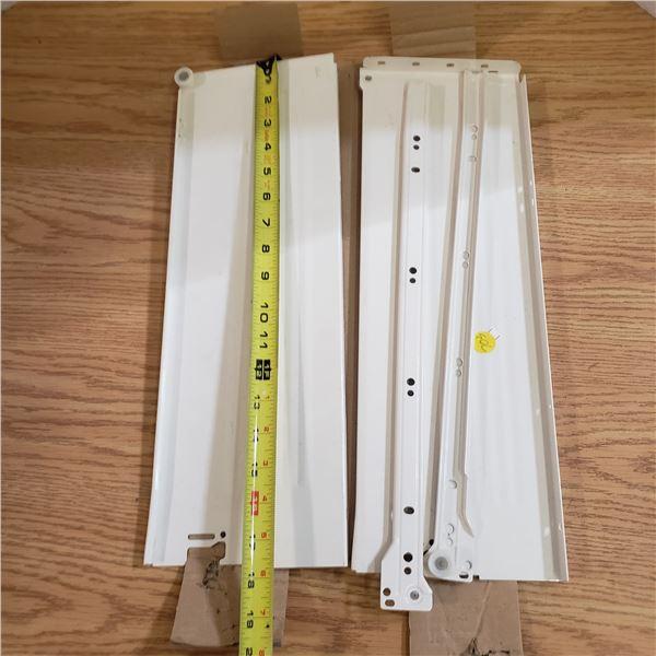 "set of white drawer tandem box 18"" long X 6"" wide"