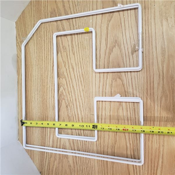 3 tray dividers , ideal for bas of the pantry unit storage sheets etc.