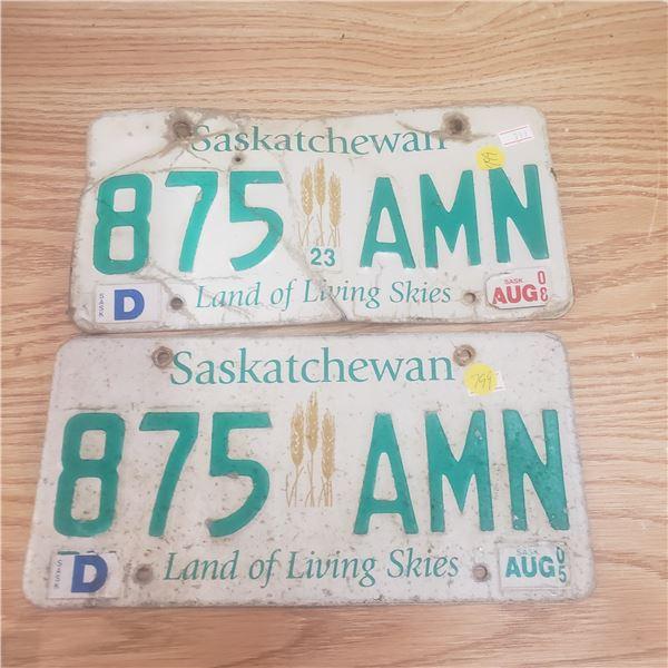 1982 Pair of Same # on license plate JKZ 157 Saskatchewan