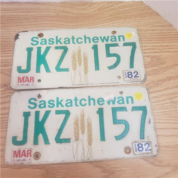 2008 Pair of Same # on license plate 875 AMN  Saskatchewan
