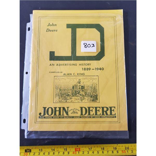 VINTAGE JOHN DEERE ADVERTISING 1889-1940 BOOKLET