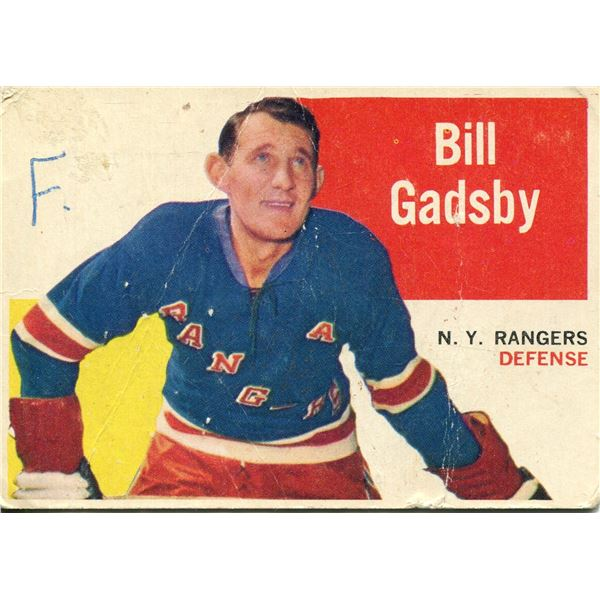 1960/61 TOPPS CARD BILL GADSBY