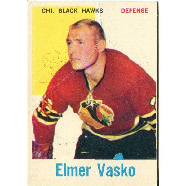 1960/61 TOPPS CARD ELMER VASKO