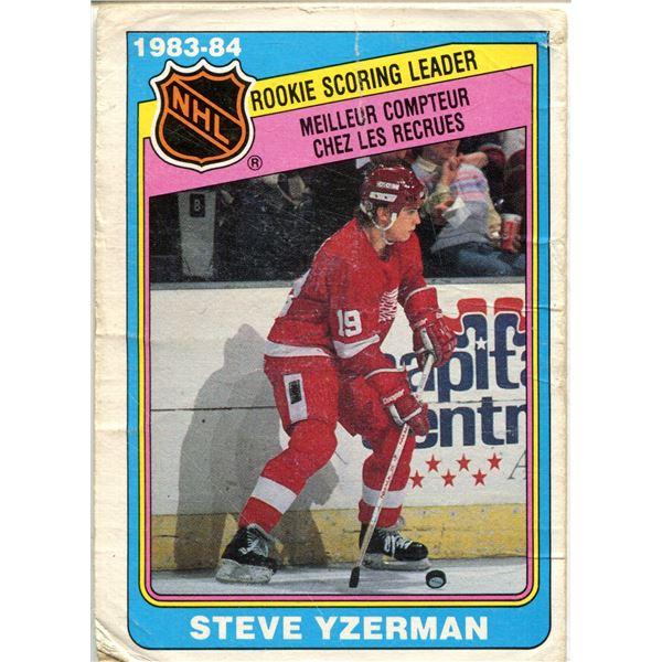 1984/85 OPC CARD STEVE YZERMAN -ROOKIE LEADER