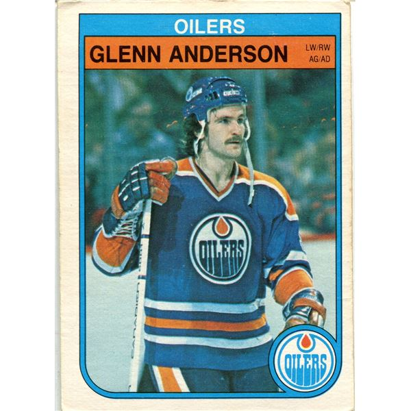 1982/83 OPC CARD GLEN ANDERSON -2ND YEAR CARD