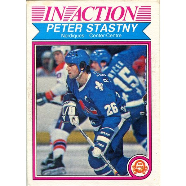 1982/83 OPC CARD PETER STASTNY -IN ACTION