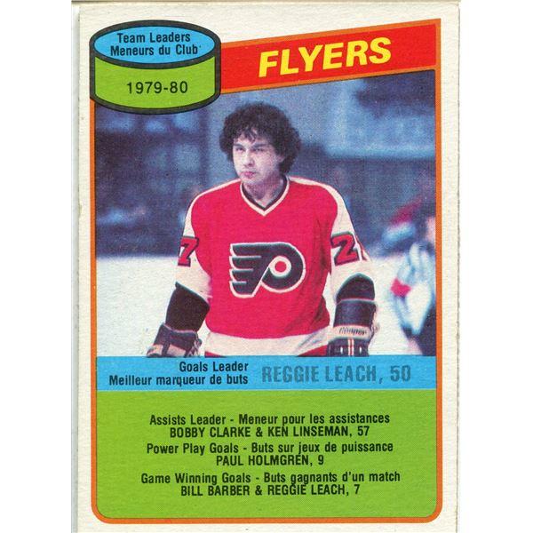 1980/81 OPC CARD REGGIE LEACH