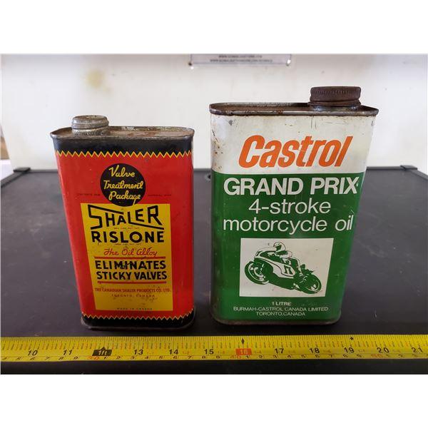 2 TINS SHALER-CASTROL