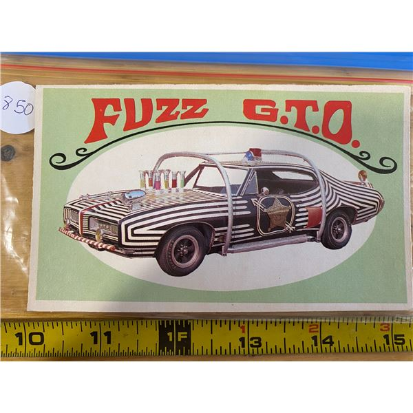 1970 Topps Way Out Wheels  #5 of 36 FUZZ GTO Romp TV Police Car