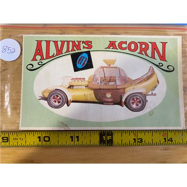 """1970 Topps Way Out Wheels #7 of 36 Alvin's ACORN """"Alvin the Chipmunk"""" TV car"""