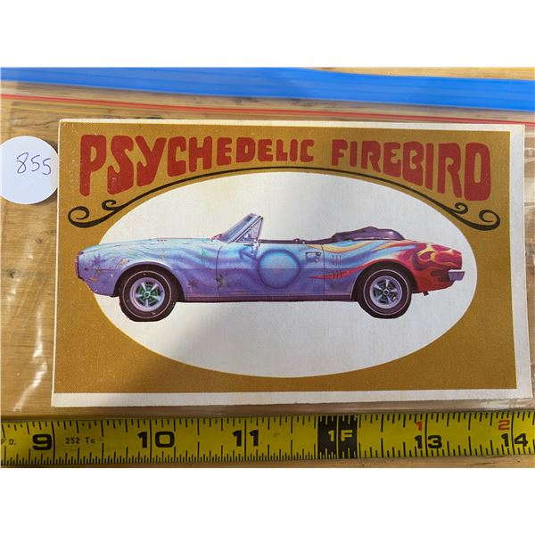 "1970 Topps Way Out Wheels #12 of 36 PSYCHEDLIC FIREBIRD ""Dean Martin"" Movie car"