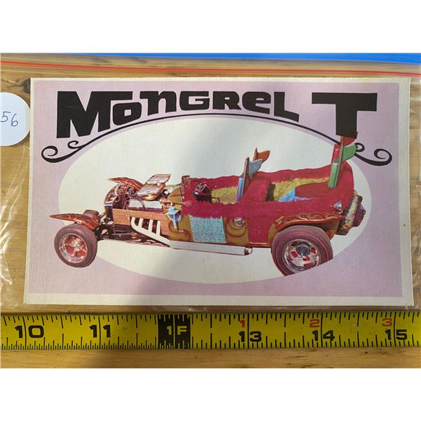 """1970 Topps Way Out Wheels #13 of 36 MONGREL T """"Easy Come Easy Go"""" Movie Rod Tub"""