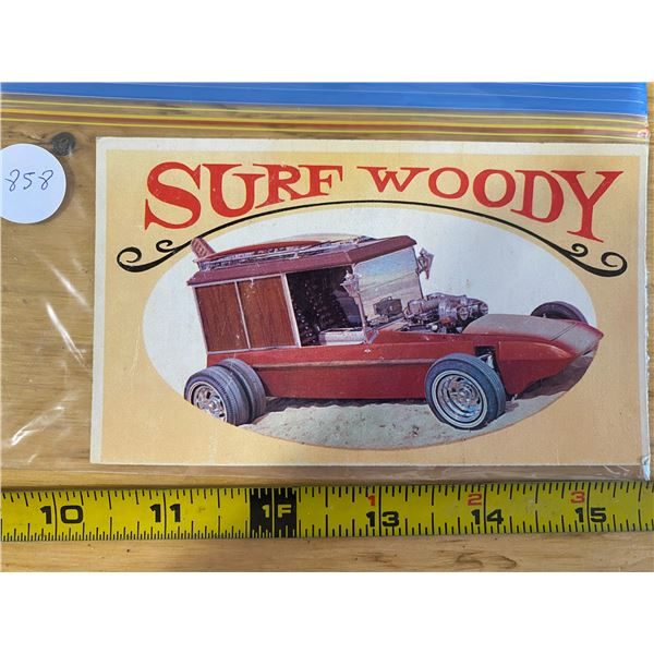 """1970 Topps Way Out Wheels #17 of 36 SURF WOODY  """"Wonderful World of Wheels"""" TV Show"""
