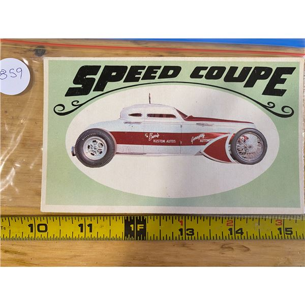 """1970 Topps Way Out Wheels #20 of 36 SPEED COUPE  """"Dobie Gillis"""" TV Car"""