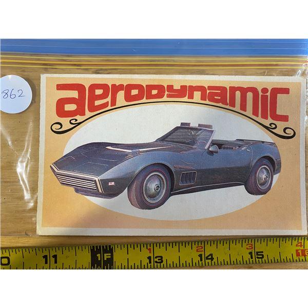 1970 Topps Way Out Wheels   # 23 of 36 AERO-DYNAMIC Aerovette Design