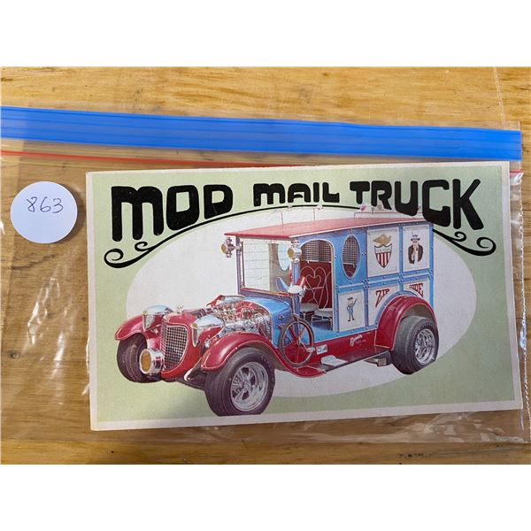 1970 Topps Way Out Wheels #24 of 36 MOD MAIL TRUCK Model Products