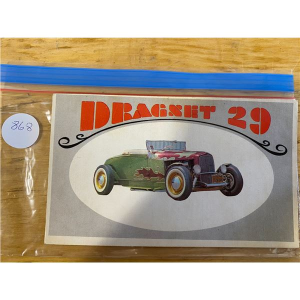 """1970 Topps Way Out Wheels #32 of 36 DRANET 29  """"Dragnet"""" TV Rod"""