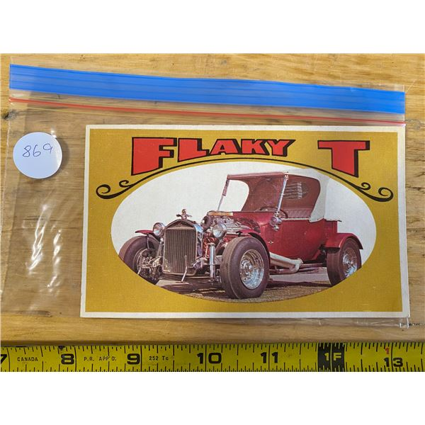 """1970 Topps Way Out Wheels #33 of 36 FLAKY T  """"Hope & Benny"""" TV Special"""
