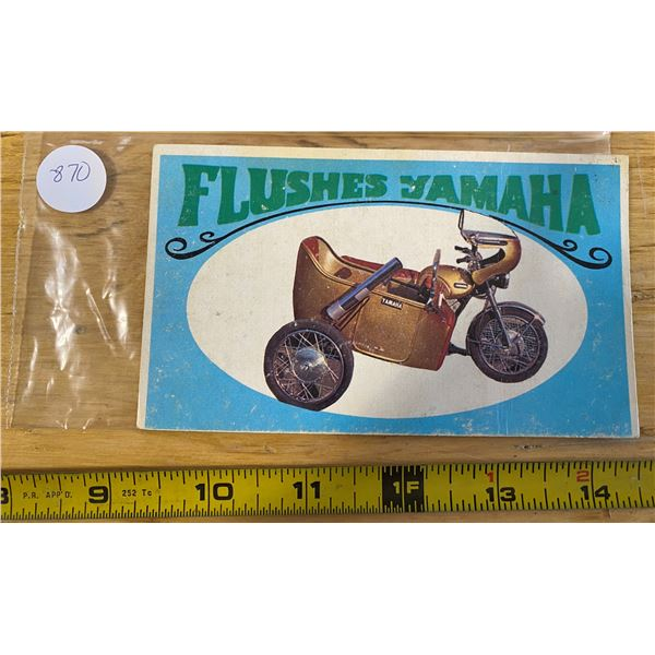 1970 Topps Way Out Wheels # 35 of 36 FLUSHES YAMAHA  Movie Cycle