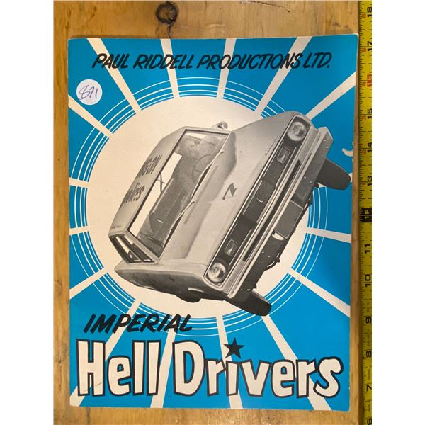 1972 Imperial Hell Drivers 1972 Prince Albert Exhibition keepsake with 2 live signatures