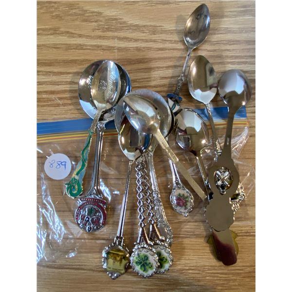 12 x collector spoons Including Florida, Edmonton, Gravelbourg, Fredericton, Penticton, Calgary, rar