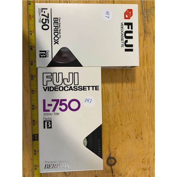 """2X Beta Tapes (used) FUJI Fine Grain """"Beidox"""" content may be different than labeled."""