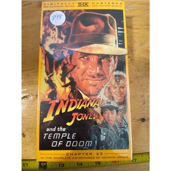 """NEW IN ORIGINAL WRAP  Indiana Jones VHS Indiana Jones  """"Temple of Doom"""" Chapter 23 Complete Adventur"""