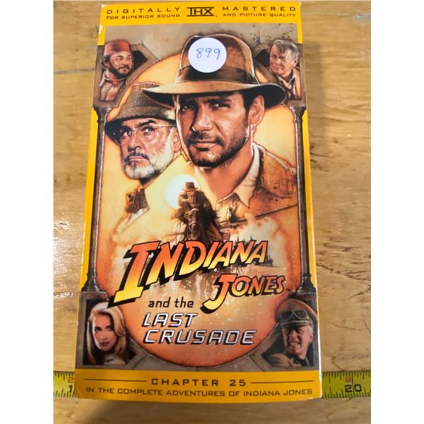 """Indiana Jones Chapter 25 VHS """"The last Crusade"""""""
