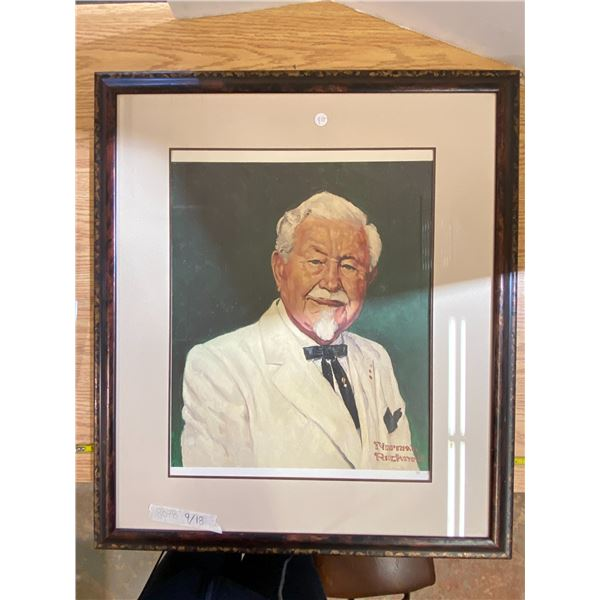 Norman Rockwell # Print of Col Sanders.  RARE