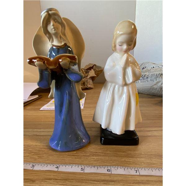 "Angel figurine and little girl (Bedtime) figurine Angel ""figurine and Bedtime Royal Doulton"