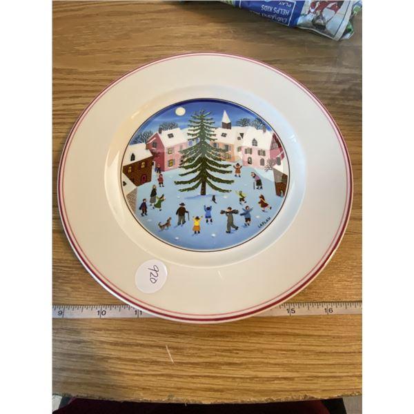 """Festive Plate Villeroy & Boch Naïf Christmas 8 ¼ """" Salad Desert Side Appetizer Plate"""
