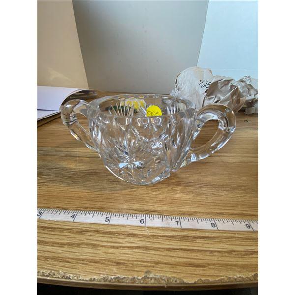 """Crystal sugar bowl H 2 ¾ """" x W 3 ½ """""""
