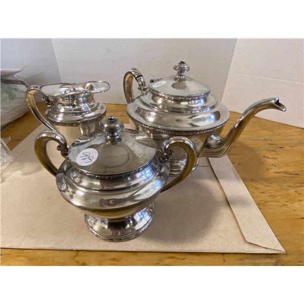 3 Piece Plated Silver Tea Set International Standard