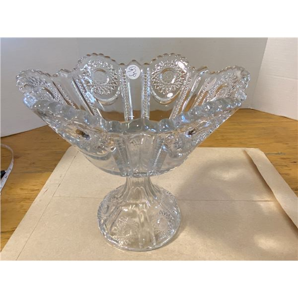 """Round Pedestal Bowl 8"""" Tall 9"""" wide at top"""