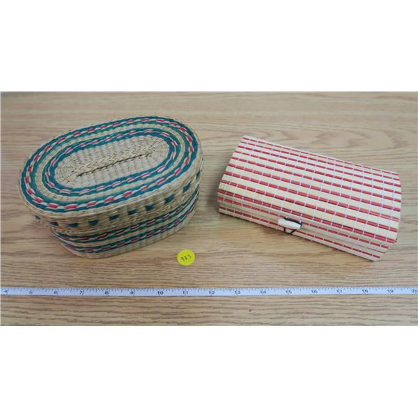 2 Handmade Baskets