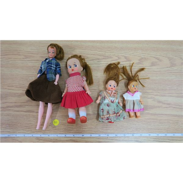 4 Vintage Dolls