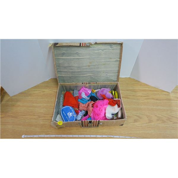 Suitcase of Vintage Doll Clothes