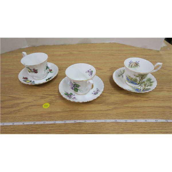 3 Royal Albert Tea Cups