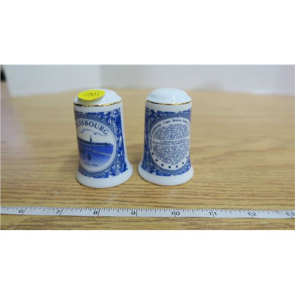 Pair of Vintage Louisbourg, Nova Scotia, Salt and Pepper Shakers