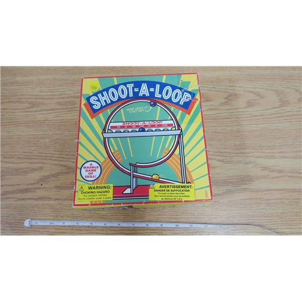 """Vintage """"Shoot-a-loop"""" Marble Game"""